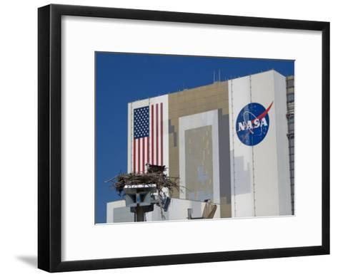 Osprey's Nest at the Vehicle Assembly Building at Kennedy Space Center-Mike Theiss-Framed Art Print