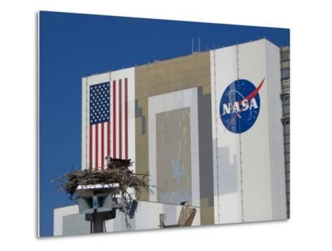 Osprey's Nest at the Vehicle Assembly Building at Kennedy Space Center-Mike Theiss-Metal Print
