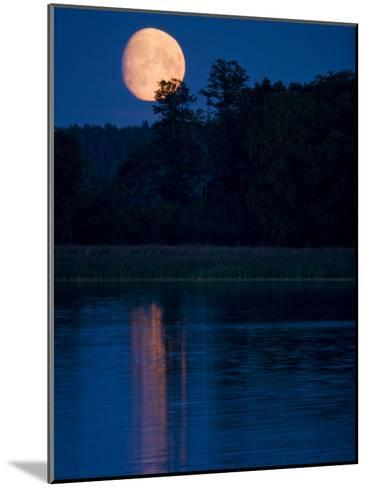 Moon Light Reflecting in Calm Lake Water-Mattias Klum-Mounted Photographic Print