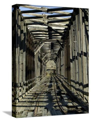 Abandoned Railroad Bridge-Pete Ryan-Stretched Canvas Print