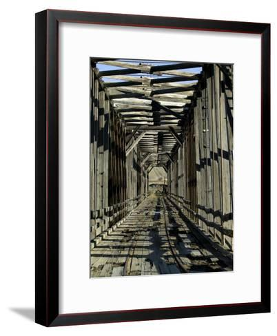 Abandoned Railroad Bridge-Pete Ryan-Framed Art Print