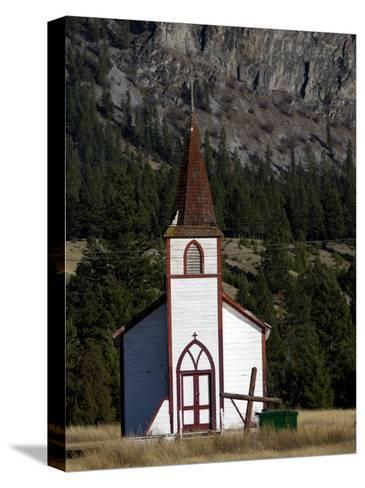 Front View of a Small Old Church-Pete Ryan-Stretched Canvas Print