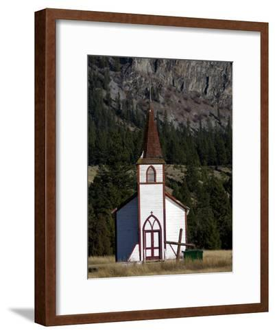 Front View of a Small Old Church-Pete Ryan-Framed Art Print