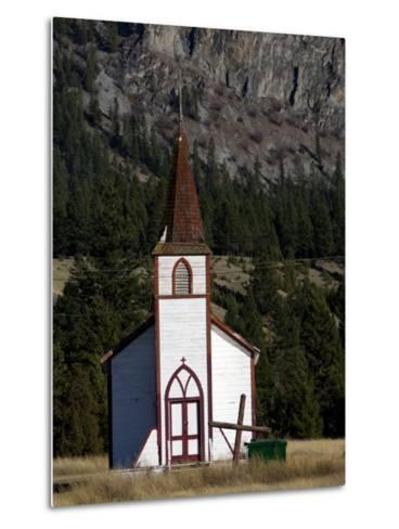 Front View of a Small Old Church-Pete Ryan-Metal Print