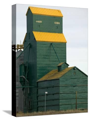 Exterior of a Grain Elevator-Pete Ryan-Stretched Canvas Print