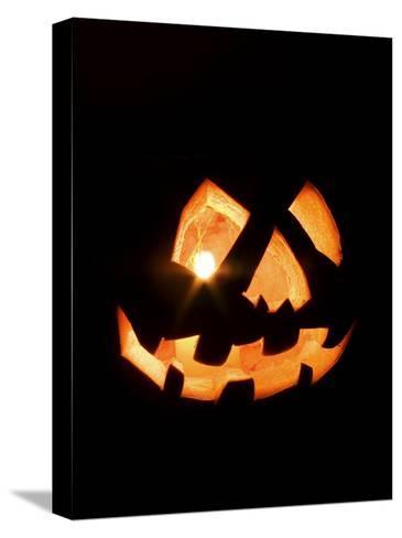 Halloween Jack-O' Lantern at Night-Marc Moritsch-Stretched Canvas Print