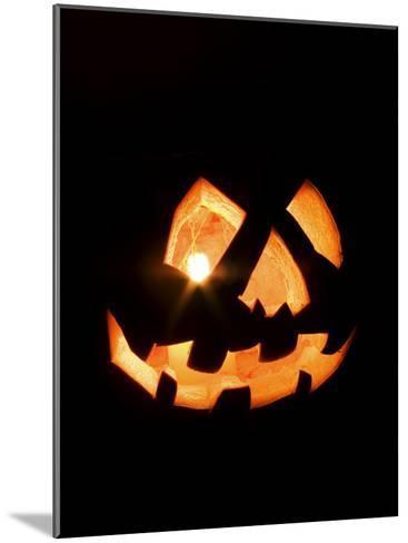 Halloween Jack-O' Lantern at Night-Marc Moritsch-Mounted Photographic Print