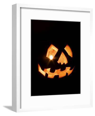 Halloween Jack-O' Lantern at Night-Marc Moritsch-Framed Art Print