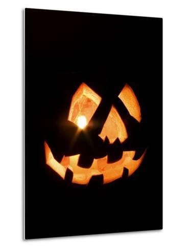 Halloween Jack-O' Lantern at Night-Marc Moritsch-Metal Print