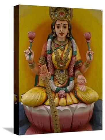 Figurine of a Hindu Goddess in Chettinad, India-Michael Melford-Stretched Canvas Print