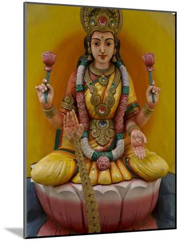 Figurine of a Hindu Goddess in Chettinad, India-Michael Melford-Mounted Photographic Print