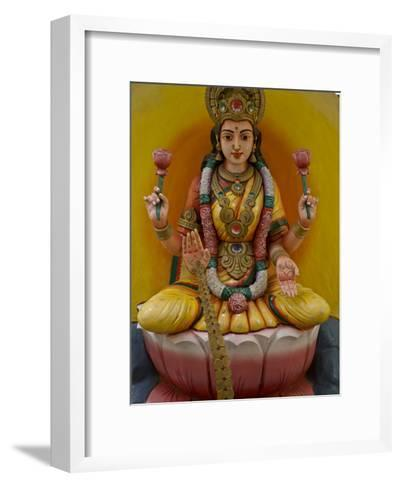 Figurine of a Hindu Goddess in Chettinad, India-Michael Melford-Framed Art Print