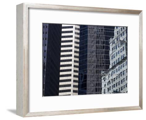 Reflections in Building Windows-Skip Brown-Framed Art Print