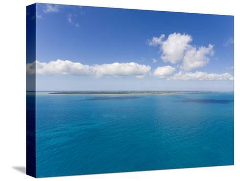Florida Keys Islands on Sunny Day with Blue Sky and Turquoise Waters-Mike Theiss-Stretched Canvas Print