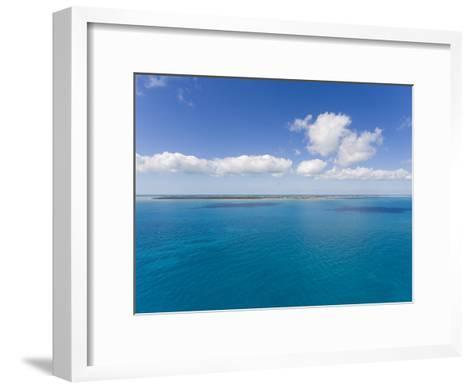 Florida Keys Islands on Sunny Day with Blue Sky and Turquoise Waters-Mike Theiss-Framed Art Print
