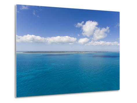 Florida Keys Islands on Sunny Day with Blue Sky and Turquoise Waters-Mike Theiss-Metal Print