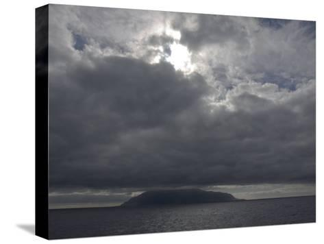 Clouds Covering the Peak on Tristan Da Cunha, in the South Atlantic-Kent Kobersteen-Stretched Canvas Print