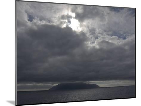 Clouds Covering the Peak on Tristan Da Cunha, in the South Atlantic-Kent Kobersteen-Mounted Photographic Print