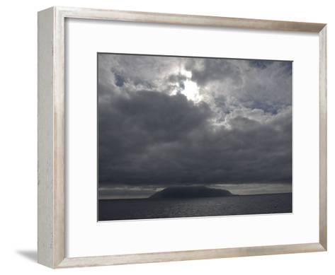 Clouds Covering the Peak on Tristan Da Cunha, in the South Atlantic-Kent Kobersteen-Framed Art Print