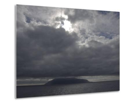 Clouds Covering the Peak on Tristan Da Cunha, in the South Atlantic-Kent Kobersteen-Metal Print