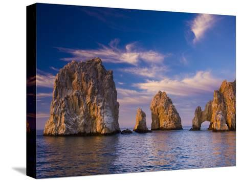 Sunrise on Land's End, Los Arcos Rock Formations-Ralph Lee Hopkins-Stretched Canvas Print