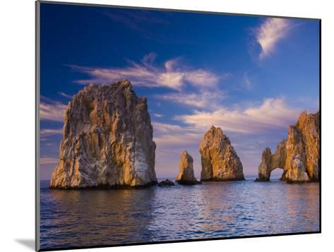 Sunrise on Land's End, Los Arcos Rock Formations-Ralph Lee Hopkins-Mounted Photographic Print