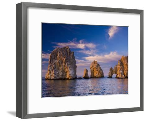Sunrise on Land's End, Los Arcos Rock Formations-Ralph Lee Hopkins-Framed Art Print