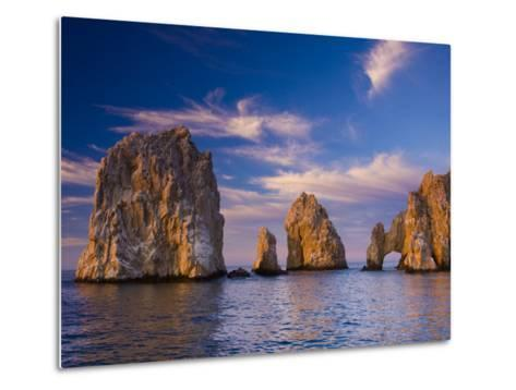 Sunrise on Land's End, Los Arcos Rock Formations-Ralph Lee Hopkins-Metal Print