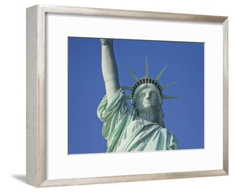 Statue of Liberty Against a Clear Blue Sky-Mike Theiss-Framed Art Print