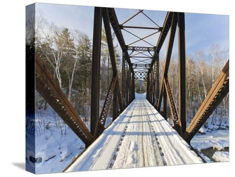 Old Steel Bridge Covered in Snow in the White Mountains in New Hampshire-Mike Theiss-Stretched Canvas Print