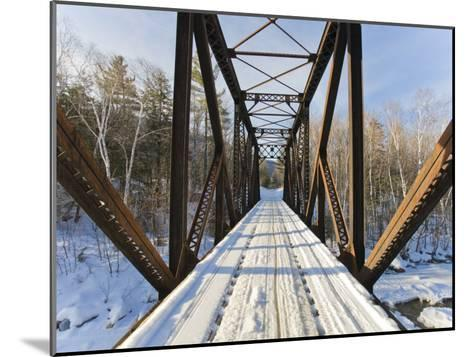 Old Steel Bridge Covered in Snow in the White Mountains in New Hampshire-Mike Theiss-Mounted Photographic Print