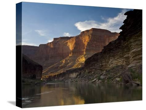 Last Light on Conquistador Aisle, on the Colorado River, Grand Canyon-Ralph Lee Hopkins-Stretched Canvas Print