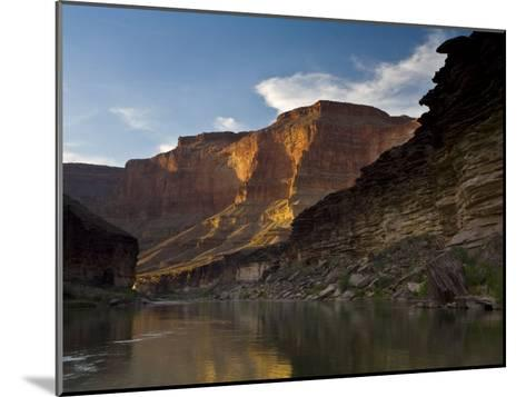 Last Light on Conquistador Aisle, on the Colorado River, Grand Canyon-Ralph Lee Hopkins-Mounted Photographic Print