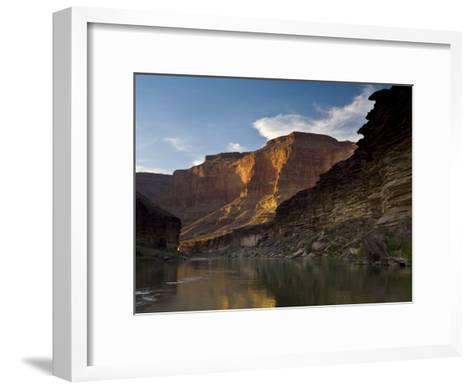 Last Light on Conquistador Aisle, on the Colorado River, Grand Canyon-Ralph Lee Hopkins-Framed Art Print