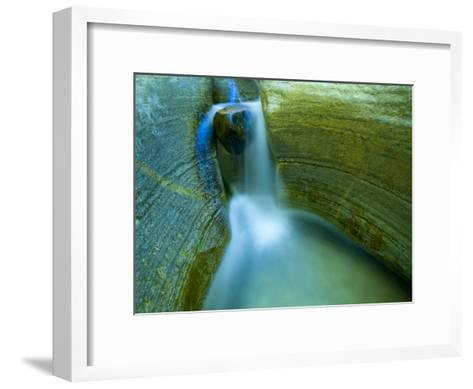 Waterfall and Scuplted Rocks, Matkatamiba Canyon, Grand Canyon-Ralph Lee Hopkins-Framed Art Print