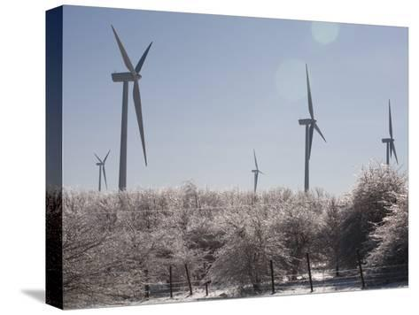 Wind Turbines after and Ice Storm-Skip Brown-Stretched Canvas Print