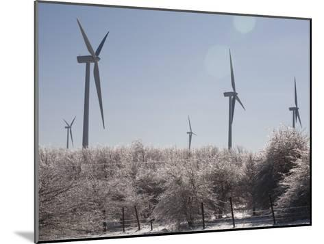 Wind Turbines after and Ice Storm-Skip Brown-Mounted Photographic Print