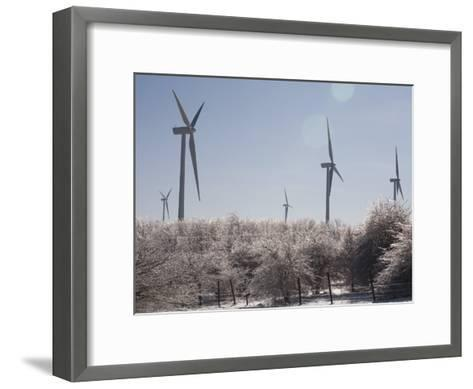 Wind Turbines after and Ice Storm-Skip Brown-Framed Art Print