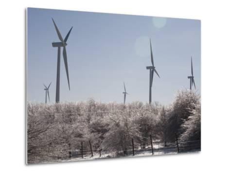 Wind Turbines after and Ice Storm-Skip Brown-Metal Print