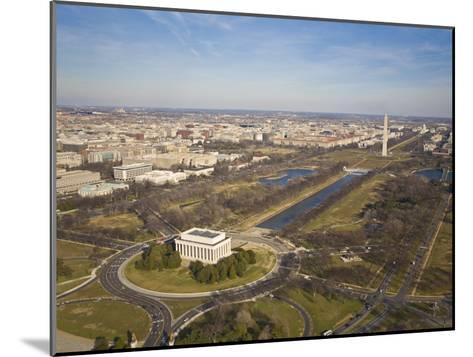 Mall, Lincoln Memorial, Washington Monument, and Reflecting Pool-Mike Theiss-Mounted Photographic Print