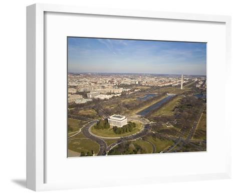 Mall, Lincoln Memorial, Washington Monument, and Reflecting Pool-Mike Theiss-Framed Art Print