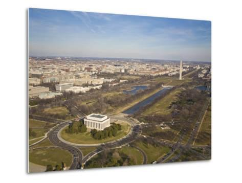 Mall, Lincoln Memorial, Washington Monument, and Reflecting Pool-Mike Theiss-Metal Print