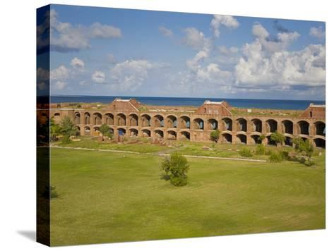 View Inside the Courtyard of Fort Jefferson, Dry Tortugas-Mike Theiss-Stretched Canvas Print