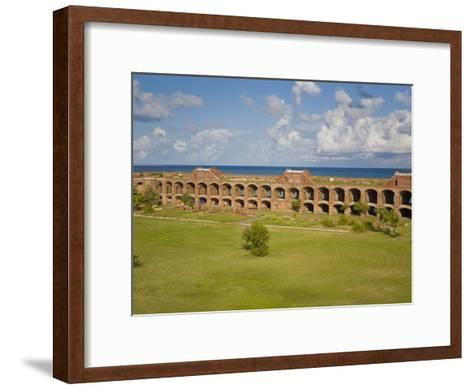 View Inside the Courtyard of Fort Jefferson, Dry Tortugas-Mike Theiss-Framed Art Print