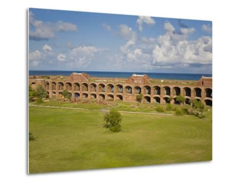 View Inside the Courtyard of Fort Jefferson, Dry Tortugas-Mike Theiss-Metal Print