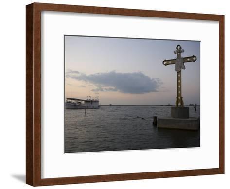 Cross Commemorating Victims of Hurricane Katrina-Tyrone Turner-Framed Art Print