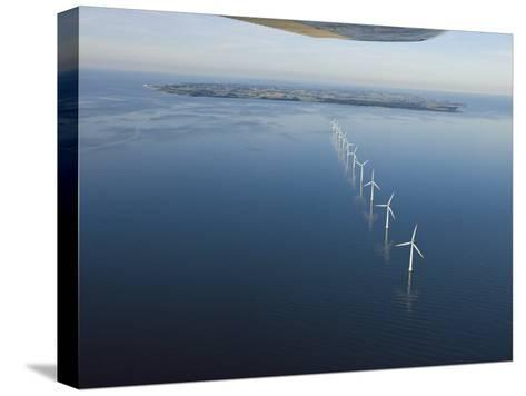 Wind Turbines Provide Energy for the Residents of Samso Island--Stretched Canvas Print