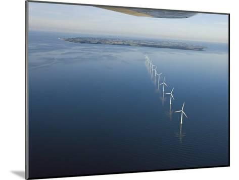 Wind Turbines Provide Energy for the Residents of Samso Island--Mounted Photographic Print