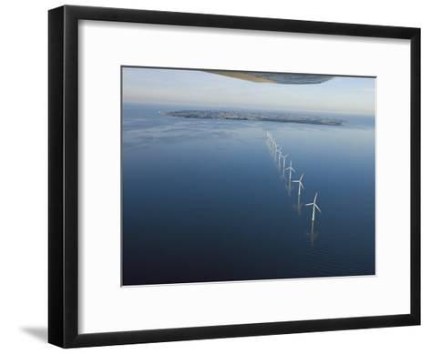 Wind Turbines Provide Energy for the Residents of Samso Island--Framed Art Print