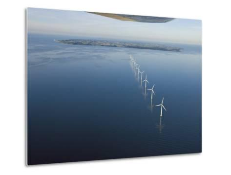 Wind Turbines Provide Energy for the Residents of Samso Island--Metal Print